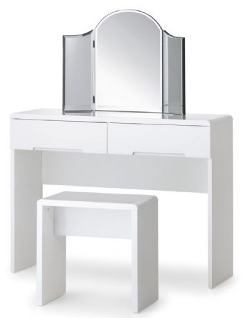 Manhattan White High Gloss Dressing Table By Julian Bowen